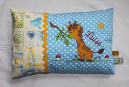 Kuschelkissen Motiv Giraffe & Name des Kindes 25x35 cm