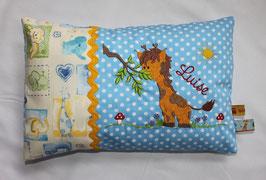 Kuschelkissen, Namenskissen Motiv Giraffe 20x30 cm