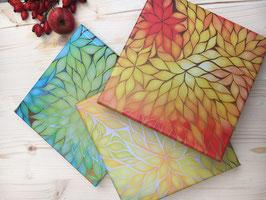 Energy Design - Blätterbilder Set 3 Drucke auf Leinwand