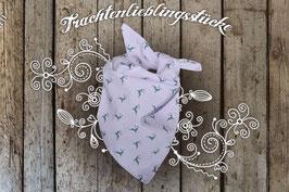 Mädchen Trachten-Tuch Flieder/grün kleiner Hirsch