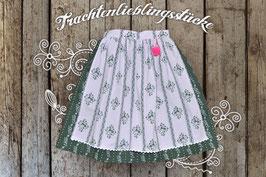 Damen-Trachtenrock Waldgrün / Flieder Hirsch