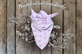 Mädchen Trachten-Tuch Flieder/roter Hirsch