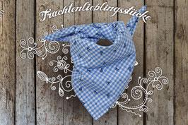 Trachtentuch Blau Vichy Springender Hirsch