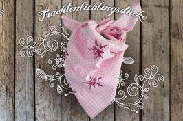 Mädchen Trachten-Tuch Edelweiß rosa
