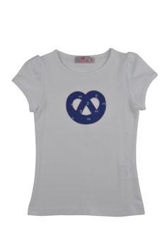 Mädchen Kurzarm-Shirt Breze blau Blümchen