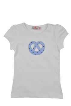Mädchen Kurzarm-Shirt Breze hellblau Blümchen