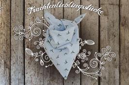 Mädchen Trachten-Tuch Hellblau