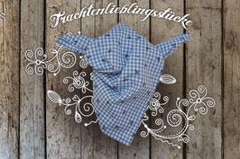 Jungs Trachten-Tuch Blau Vichy mit Hirschprint
