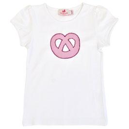 Mädchen Kurzarm-Shirt Breze rosa Vichy