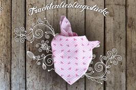 Mädchen Trachten-Tuch Pink Blümchen