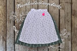 Damen-Trachtenrock Waldgrün / Flieder Hirsch klein