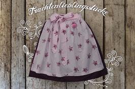 Damen-Trachtenrock bordeaux Edelweiß/rosa Vichy
