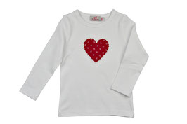 Mädchen Langarm-Shirt Herz brombeer Blümchen