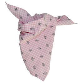 Mädchen Trachten-Tuch rosa Vichy Blümchen