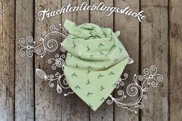 Mädchen Trachten-Tuch Apfelgrün