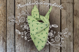 Trachtentuch Apfelgrün Vichy Hirschprint