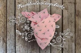 Mädchen Trachten-Tuch Rosé