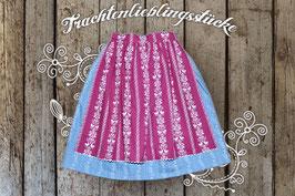 Damen-Trachtenrock Jeans / Brombeere