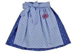 Mädchen Trachtenrock blau Blümchen mit Schürze hellblau Streublümchen