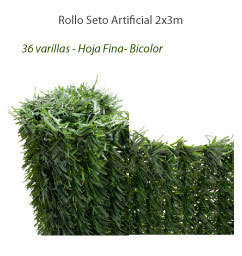Seto Artificial 90% - Rollo 2x3m - Hoja fina (36v/m)