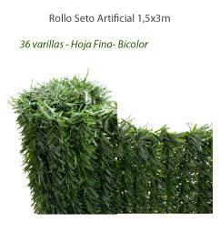 Seto Artificial 90% - Rollo 1,5x3m - Hoja fina (36v/m)