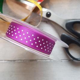 Band lila mit weißen Punkten