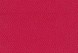 Druckstoff Kitzbühel rot m. Punkten