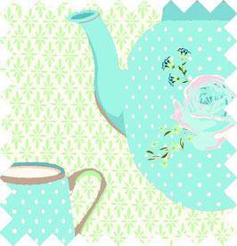 Stoff Teekanne