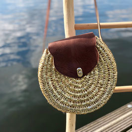 Roundiebag Palm Goud ❤ M