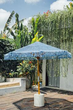 Unieke Boho  Handgeknoopte Parasol  ❤ Franjes Blauw250cm