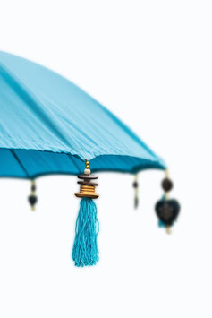 Luxe Boho Bali Parasol  ❤Zeeblauw verkrijgbaar in 180cm en 250cm