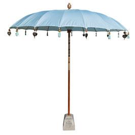 Luxe Boho Bali Parasol  ❤ Lichtblauw verkrijgbaar in 180cm en 250cm