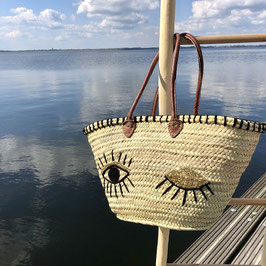 Rieten Strandtas/ Shopper Eyes