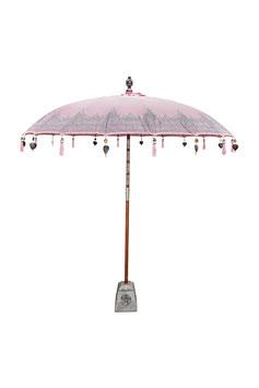 Luxe Boho Bali Parasol  ❤ Licht Roze Half Zilver verkrijgbaar in 180cm en 250cm