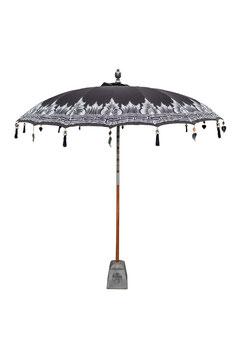 Luxe Boho Bali Parasol  ❤ Zwart Half Zilver 180 , 250 en 300 cm
