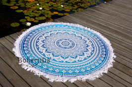 Roundie Blue Ombre Franjes - Wit