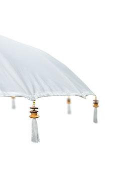 Luxe Boho Bali Parasol  ❤ Creme/Wit