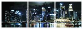 "Magnet Schlüsselbrett ""Singapur Skyline"""
