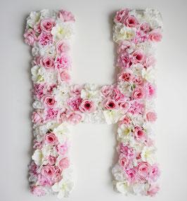 "Blumen Buchstabe ""Butterfly kisses"""