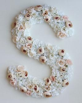 Blumen Buchstabe /Floral Beige