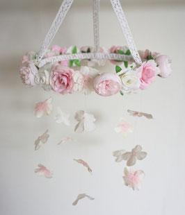 """Blumen Mobile """"Rose Pink"""""""
