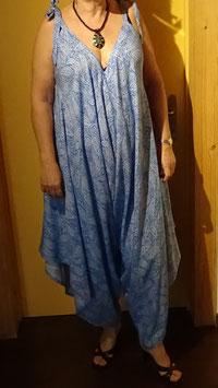 Hosenkleid blau/weiss / Grösse M/L