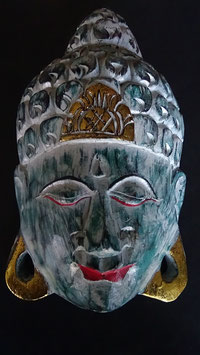 Buddha - Maske Gold / Grün
