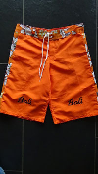Herrenshort Orange gemustert / Grösse S