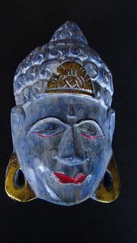Buddha - Maske Gold / Blau