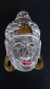 Buddha - Maske Gold/Weiss (3)