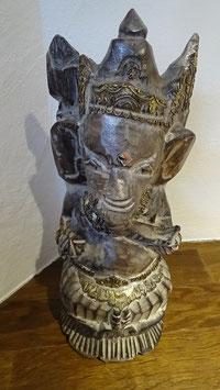 Ganesha / grau/braun/gold
