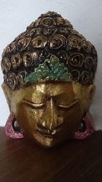 Buddha - Maske Gold (klein 2)
