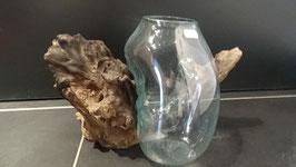 Glas auf Wurzelstock (Gamal Wood) L / 37