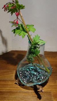 Glas auf Wurzelstock (Gamal Wood) L / 25 (5) / als Blumenvase geeignet